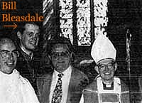 Bill Bleasdale and Bishop Saunders