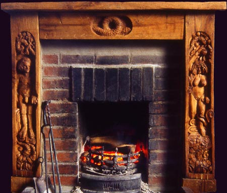 Adam and Eve Fire Surround