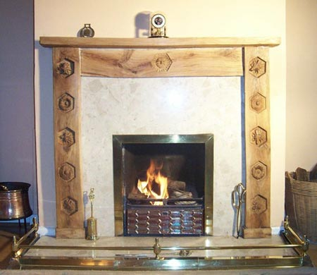Bees Waggledance Fire Surround