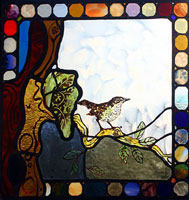 Chinnor Thrush Stained Glass