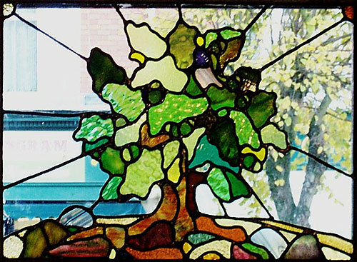 Oak Tree Stained Glass Window