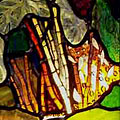 Bruce's Garden Stained Glass Panel