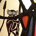 Bush Baby Stained Glass Window