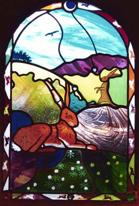 Hare Today Stained Glass Window