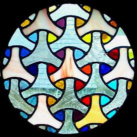 Rounded Stained Glass Window